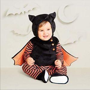 Infant BAT Costume 5 piece orange & black stripe
